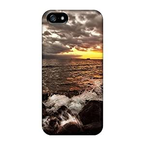 New Premium ConnieJCole Sunset Over A Rocky Shore Skin Case Cover Excellent Fitted For Iphone 5/5s