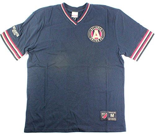 Mitchell & Ness Atlanta United FC MLB Men's Overtime Win V-Neck T-shirt (Xlarge)