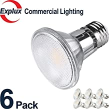 Full-Glass Dimmable LED PAR20 LED Bulbs, 40000 Hours, Weather-proof 6.5W (50 Watts Equivalent) LED PAR20 Light Bulbs, Flood Light, 3000K Soft Warm White, (Pack of 6)