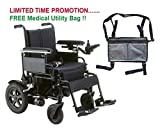 Drive Cirrus Plus EC Folding Power Wheelchair, 22'' Seat & FREE Medical Utility Bag Gray! - #CPN22FBA