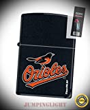 0777 Baltimore Orioles MLB Logo Black Matte Lighter with Flint Pack - Premium Lighter Fluid (Comes Unfilled) - Made in USA!