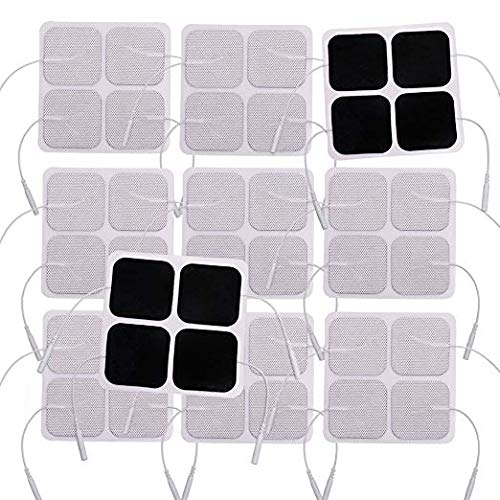 TENS Unit Pads, Ulaif 2 x 2 40 Pcs Japanese Gel Electrodes Pads for TENS Therapy - Universally Compatible with Most TENS Machine Models, Upgraded Self-Adhering, Reusable and Latex-Free