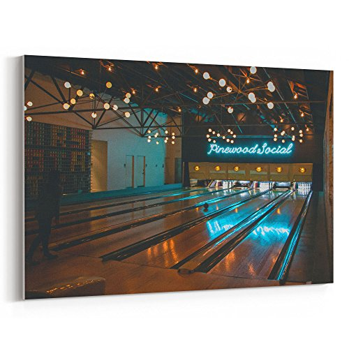 Westlake Art - Alley Bowling - 12x18 Canvas Print Wall Art - Canvas Stretched Gallery Wrap Modern Picture Photography Artwork - Ready to Hang 12x18 Inch (10 Cent Golf Balls)