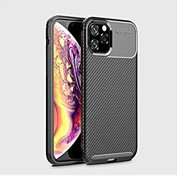 iPhone 11 case - iPhone XI Pro case 5.8 inch/Full-Body Heavy Duty Protection with Shockproof Rugged Cover/Carbon Fiber TPU Material Ultra Slim/Apple Smartphone 2019 (Black)