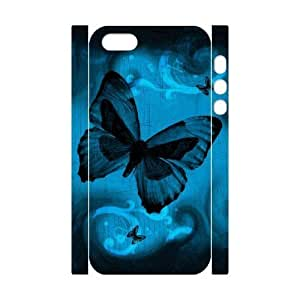 ALICASE Diy Customized Case Butterfly 3D Case for iPhone 5,5S [Pattern-1]