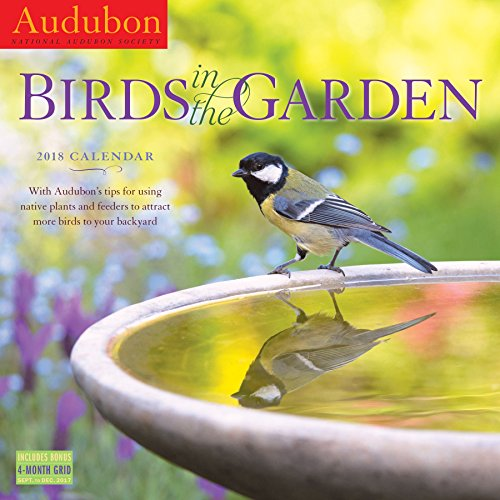 Audubon Birds in the Garden Wall Calendar 2018