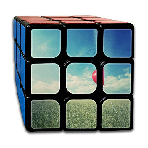 - Rubiks Cube Heart Shaped Red Balloon Cool Speed Cube 3x3 Smooth Magic Cube Puzzle Game Black