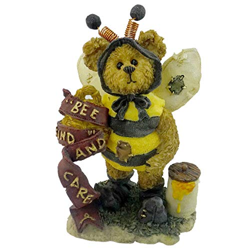 Boyds Bears Resin Caren B Bearlove Beehive Bearstone Honey - Resin 4.00 IN