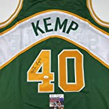 Autographed/Signed Shawn Kemp Seattle Green