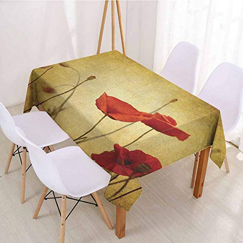 (ScottDecor Wrinkle Free Tablecloths Printed Tablecloth W 54