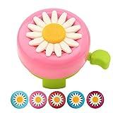 Paliston Kid's Bike Bell, Bicycle Bell for Girls, Bike Horny. Toddler Bike Bells (Pink & Green)