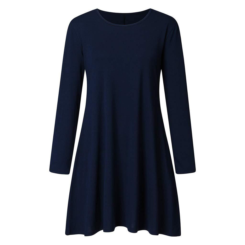 FRAUIT Vestiti Donna Eleganti Invernali Manica Lunga Abiti Ragazza Autunnali Elegantissimi Vestito Elegante Corto Invernale Maniche Lunghe Abito da Cerimonia Corti Maglietta T-Shirt