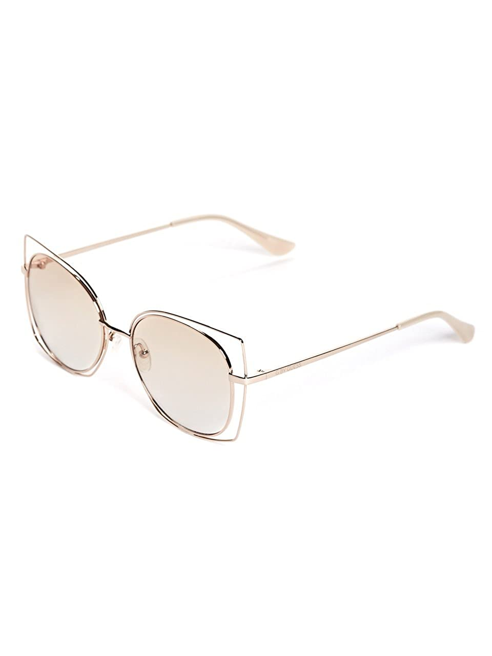 aaf3416f3 G by GUESS Women's Rounded Geometric Sunglasses at Amazon Women's Clothing  store: