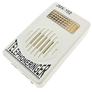 BeMatik - Timbre con luz Flash Señal Luminosa para teléfono Fijo RJ11: Amazon.es: Electrónica