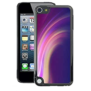 A-type Arte & diseño plástico duro Fundas Cover Cubre Hard Case Cover para Apple iPod Touch 5 (Lines Purple Pink Yellow)