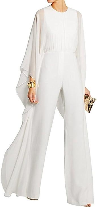 Women Bell Long Sleeve Jumpsuit with Wide Leg Elegant Jumpsuit