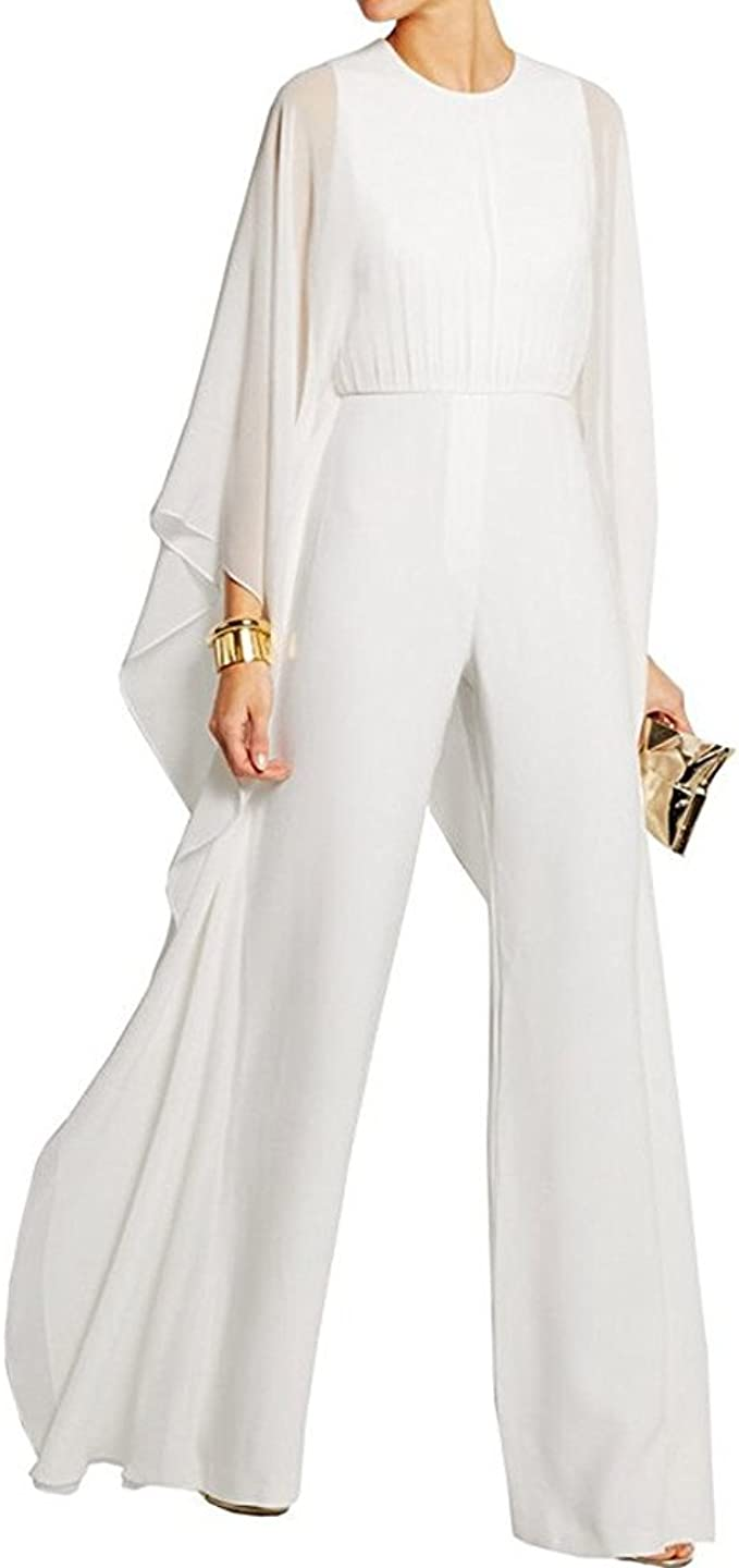 criticamente Parecchi Diffusione  Amazon.com: BeneGreat Women's Long Sleeves Jumpsuit Elegant Wide Leg Bat  Sleeve Romper Flowy Outfit: Clothing