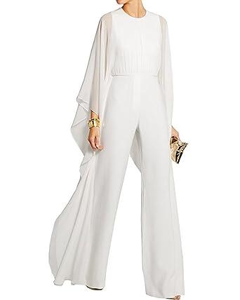 037a2e1fb74f6 BeneGreat Women s Long Sleeves Jumpsuit Elegant Wide Leg Bat Sleeve Romper  Flowy Outfit (XS
