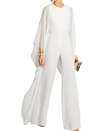 dcadab77a4e34 BeneGreat Women's Long Sleeves Jumpsuit Elegant Wide Leg Bat Sleeve Romper  Flowy Outfit