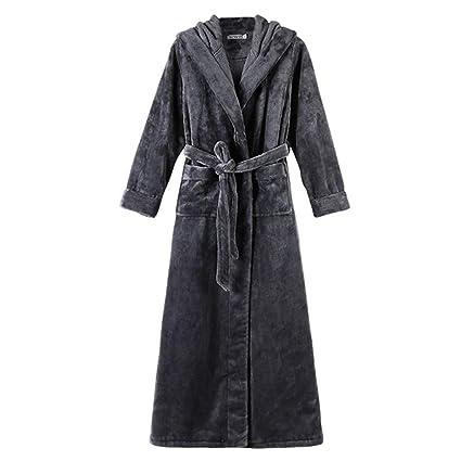 Pijamas Vestido Negro Estilo Europeo y Americano Bata Yukata otoño e Invierno para Hombre, Bata