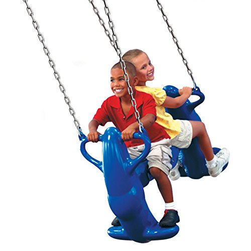 Swing-N-Slide Mega Rider Heavy Duty Multi-Child Glider Swing, Backyard Kids Playarea, Unisex, Blue Finish, Glider Bracket, Bundle with Our Expert Guide with Tips for Home (4' Glider Finish)