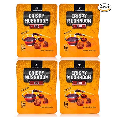 (Shiitake mushroom crisps, Crispy Mushroom, Low fat snack pack, Crunchy healthy, Vegetable crisps, Mushroom snack, vegetable snacks, healthy crunchy snacks, mushroom chips snacks, Pack of 4)