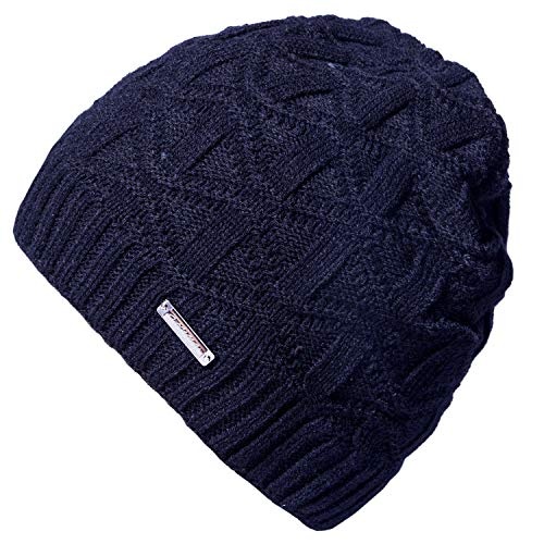 Ski Knit Beanie Hat (Loritta Mens Winter Warm Knitting Hats Soft Slouchy Baggy Beanie Cap Ski Hat)