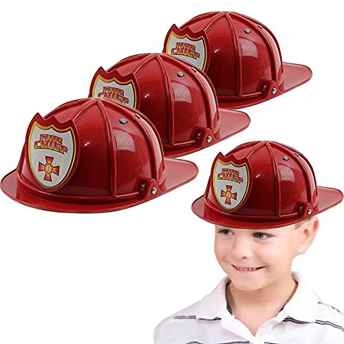 Toy Cubby Fireman Hard Plastic Chief Hat - Cubby Costumes