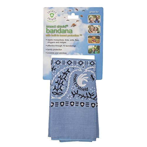 Insect Shield Bandana, Light Blue, One Size