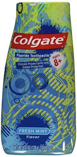 Colgate Fresh Mint Flouride Toothpaste 4.6 oz Liquid Gel