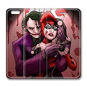 JHFHGVH Leather Case for iPhone 6 Plus, Joker and Harley Quinn Ultimate Protection Leather Case for iPhone 6 Plus