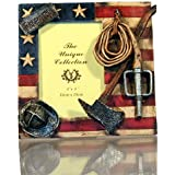 Fireman Frame with Flag, Hose, Ax, and Firefighter Hat
