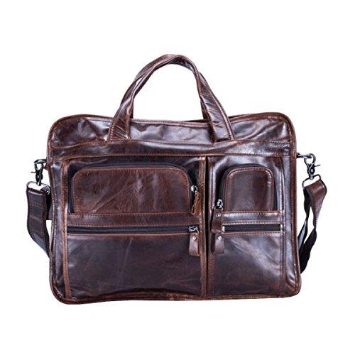 LAIDAYE Hombres De Negocios Maletín Portátil Ordenador Bolso Hombro Messenger Bag 2