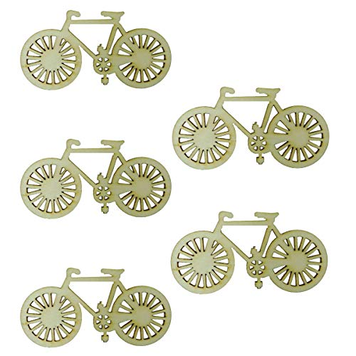 BESTOYARD Wooden Bicycle Ornaments Bike Cutout Wood Slices Crafts for DIY Crafting Ornament Decoration 10 Pcs