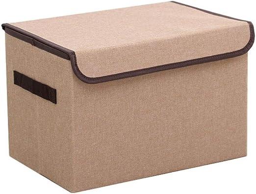 Cesta de almacenamiento Caja de Almacenamiento de Juguetes for niños Plegable con Tapa Caja de Almacenamiento Liuyu. (Color : Brown): Amazon.es: Hogar