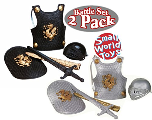 Small World Knight in Shining Armor Black & Silver Gift Set Battle Pack - 2 Pack]()