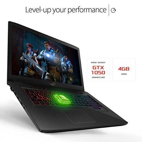 "ASUS ROG STRIX GL703VD 17.3"" Gaming Laptop, GTX 1050 4GB, Intel Core i7 2.8 GHz, 16GB DDR4, 1TB FireCuda SSHD, RGB Keyboard"