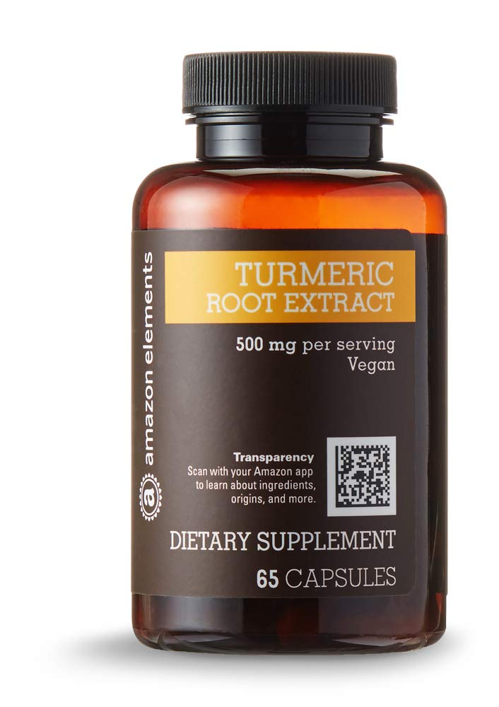 Amazon Elements Turmeric Root Extract 500 mg, 65 Capsules, 2 month supply