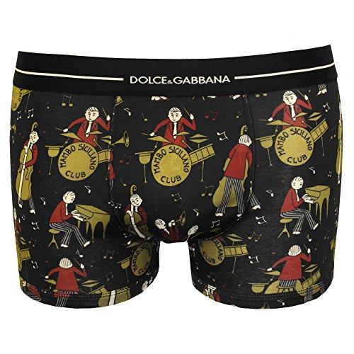 Dolce & Gabbana Men's Mambo Siciliana Club Boxer Trunk, Black Large - Uk Dolce Gabbana