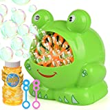 Elover Bubble Machine with Bubble Solution, Automatic Bubble Machine for Kids with High Output Over 500 Bubbles Per Minute for Park/Christmas/Party/Wedding, Battery Operated (Not Include)