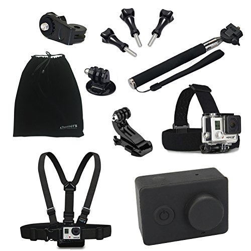 Oumers Camera Accessories kit / bundle For xiaomi Action Camera, 10-in-1 Telescoping Handheld Monopod + Chest Body Strap Belt Mount + Head Strap Mount + J Hook + xiaomi Adapter, 10 in 1 10pcs Accessories Set / Accessory Bundles For xiaomi sport camera, xiaoyi camera, Sony sport camera, GoPro Hero 1 2 3 3+ 4 Cameras Camera Accessories (Go Pro Hero3 Head Strap compare prices)