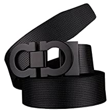 Men's Smooth Leather Buckle Belt 35mm Leather up to 42inch (105-115cm for Choose)