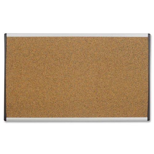 Quartet Cubicle Arc Frame Color Cork Bulletin Board, 30 x 18 Inches, Aluminum Frame (ARCB3018)