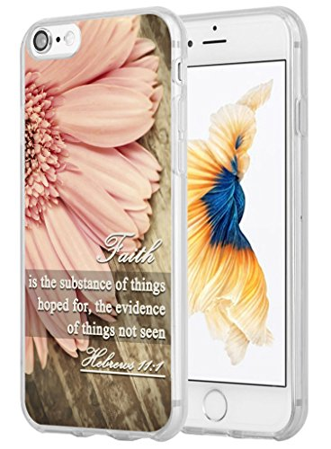 7 Case Christian Sayings,Hungo Soft TPU Silicone Protective Cover Compatible with iPhone 7/8 Bible Verses Sayings About Faith Hebrews