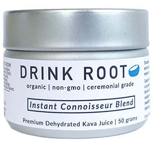 Premium Instant Kava Juice – Non-Micronized Pure Dehydrated Kava Juice Organic Pure Kavain Heavy Blend – Anxiety Releasing and Euphoria Inducing Vanuatu Kava Tea Connoisseur Blend – 2g Pouches 25
