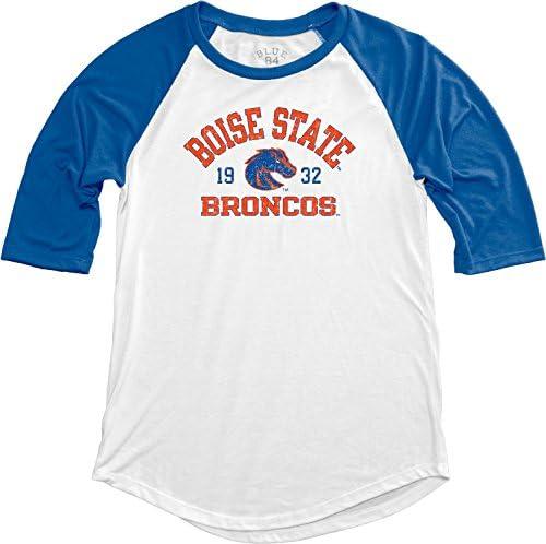 NCAA Boise State Broncos Adult Women NCAA Womens Teagan Baseball Tee,Medium,Royal