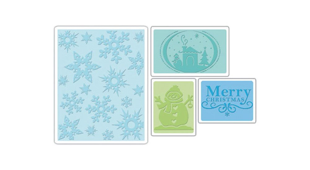 Sizzix embossing 4PK – Christmas set by Rachael Bright & e.l. Smith Notions Marketing - Drop Ship 655841