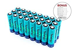 24 pcs of Tenergy AA 2600 mAh high capacity NiMH Rechargeable batteries