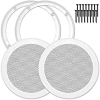 Reliable Hardware Company RH-4002-6.5-2-A White Universal Surface Mount 6-1/2 Speaker Covers, Pair