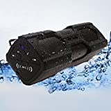EVIZIAN ROKON2 BLACK Wireless Bluetooth Speaker Portable Music Waterproof Outdoor System With Built in POWERBANK For iPhone 6, 6 Plus, 5 5c 5s 4 Android iPads and Tablets